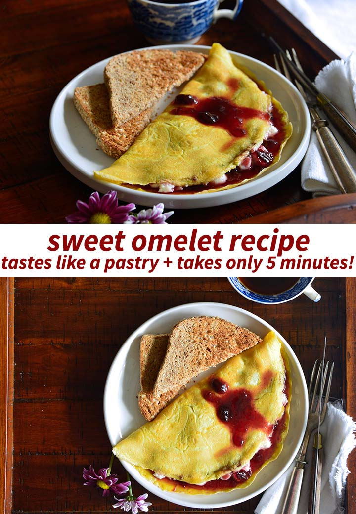 Sweet Omelet Recipe Pin
