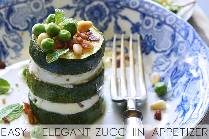 easy and elegant zucchini appetizer with description