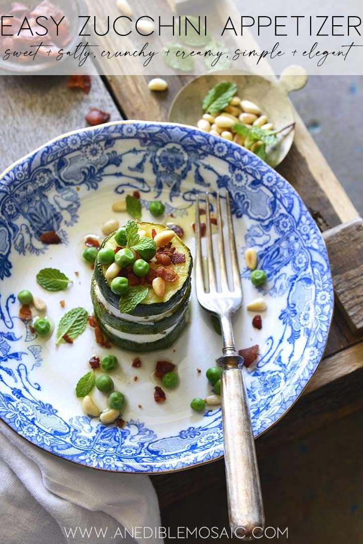 easy zucchini appetizer graphic