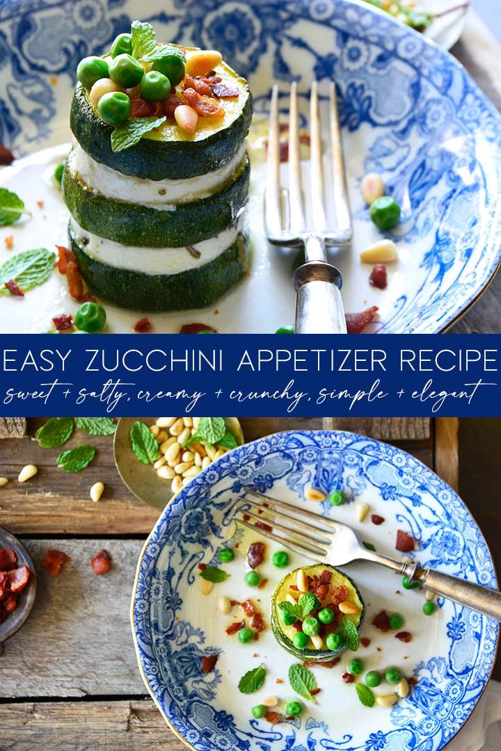 easy zucchini appetizer recipe pin