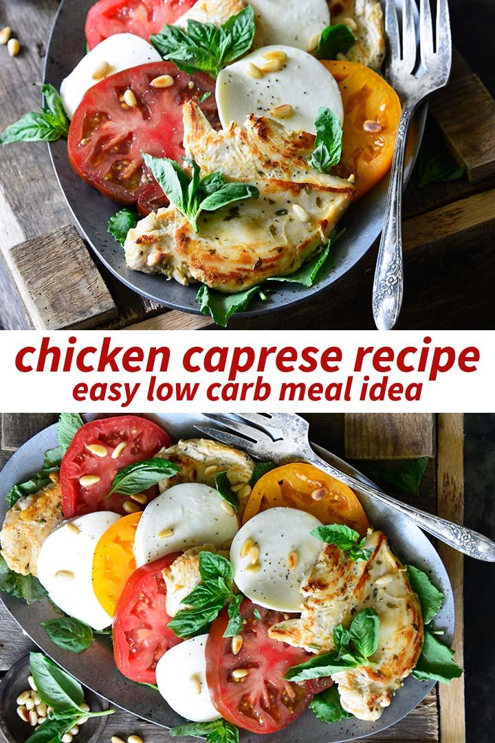 Chicken Caprese Recipe Pin