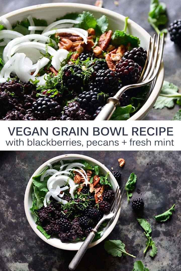 Vegan Grain Bowl Recipe Pin