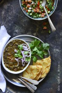 An Indian-Inspired Feast in 1 Hour Overhead View Vertical Orientation