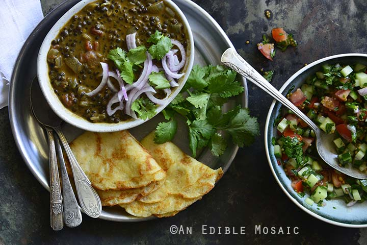 An Indian-Inspired Feast in 1 Hour Overhead View Horizontal Orientation