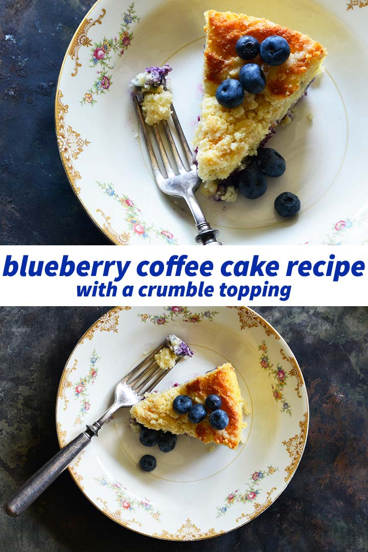 Blueberry Coffee Cake Recipe Pin