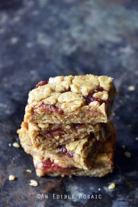 Crumble-Topped Peanut Butter Strawberry Jam Bars
