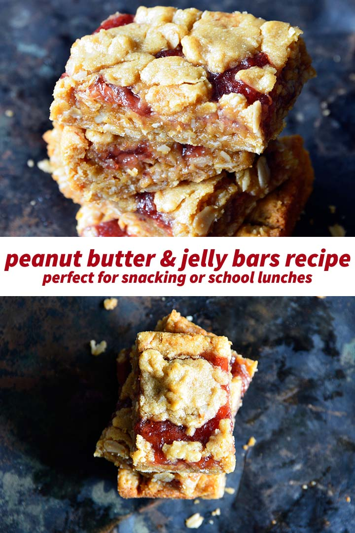 Peanut Butter and Jelly Bars Recipe Pin