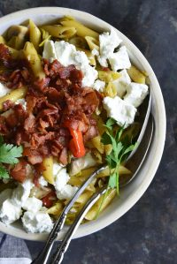 warm pasta salad featured image