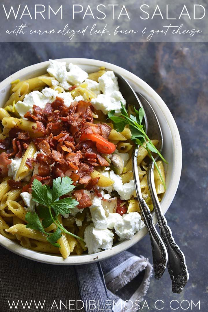 warm pasta salad graphic
