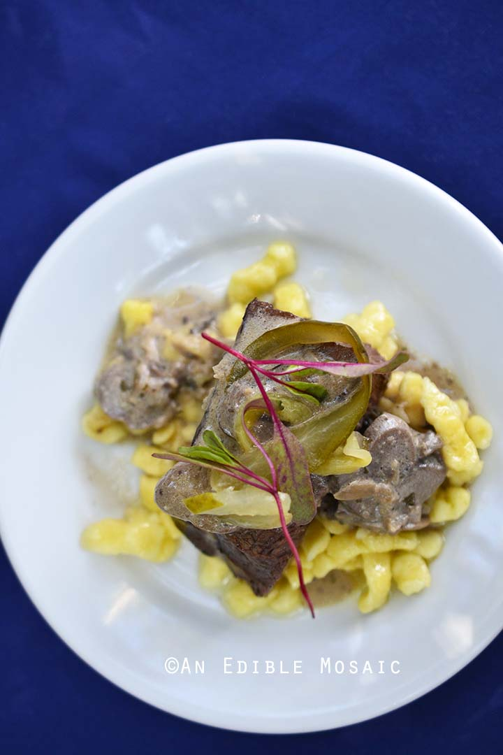 Braised Beef Stroganoff from Epcot Food and Wine Festival