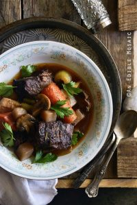 Braised Beef with Root Vegetables and Red Wine
