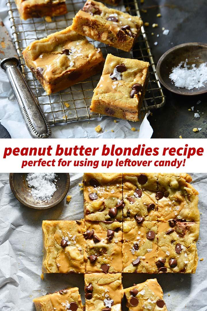 Peanut Butter Blondies Recipe Pin