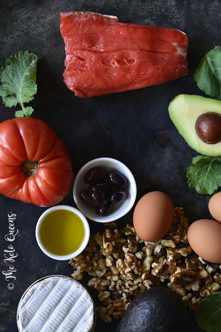 Keto-Friendly Foods Like Salmon, Avocado, Walnuts, and Olives