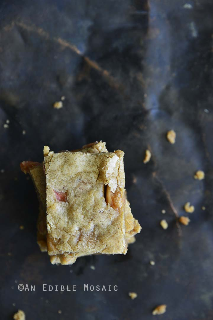 Top View of Cinnamon Apple Brown Butter Blondies