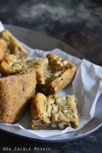 Flourless Pecan Pie Cashew Butter Blondies