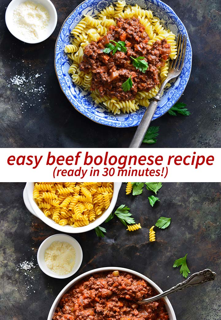 Easy Beef Bolognese Recipe Pin