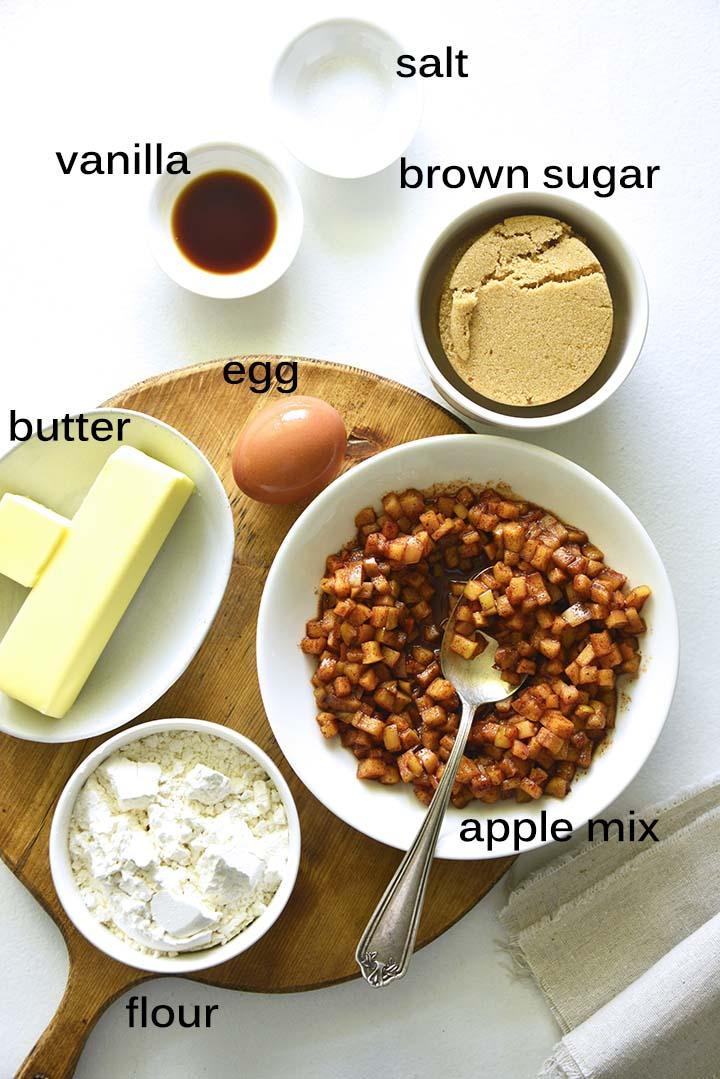 apple blondies ingredients