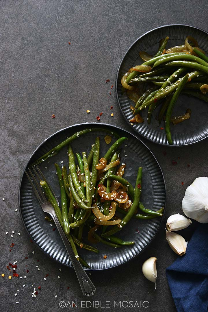 Top View of Chinese Green Beans