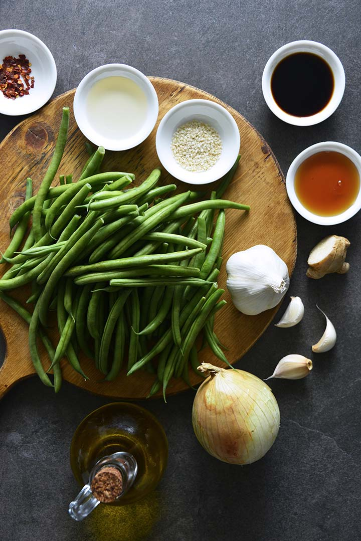 Ingredients for Chinese Garlic Green Beans