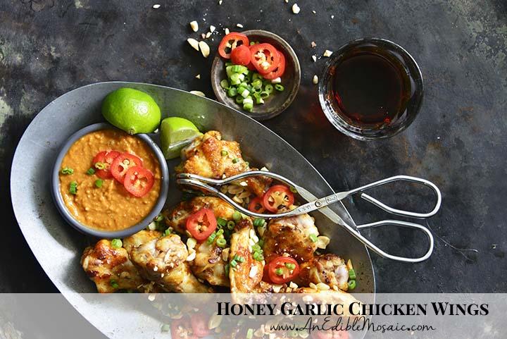 Honey Garlic Chicken Wings with Description