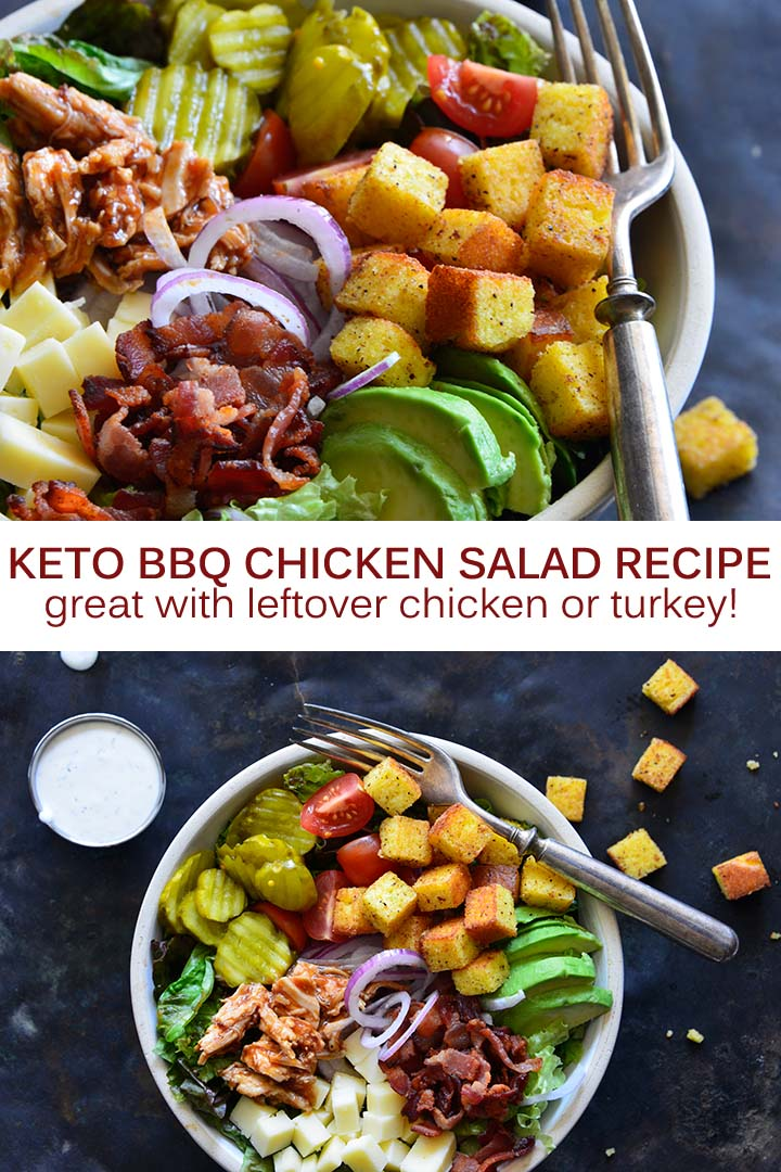 Keto BBQ Chicken Salad Recipe Pin