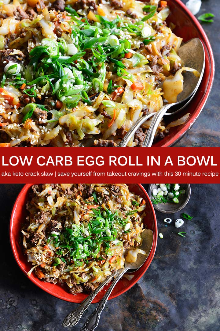 Low Carb Crack Slaw Recipe Pin