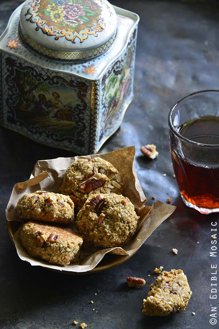 Maple Pecan Lactation Cookies with Vintage Cookie Tin