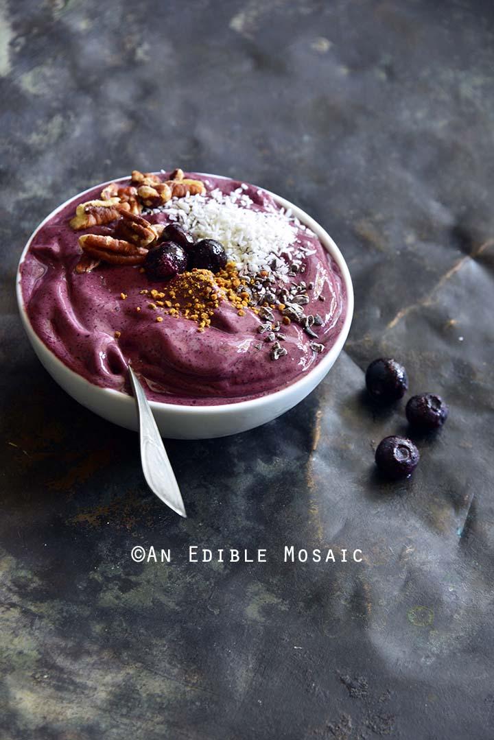Front View of 3-Ingredient Frozen Yogurt Berry Bowls