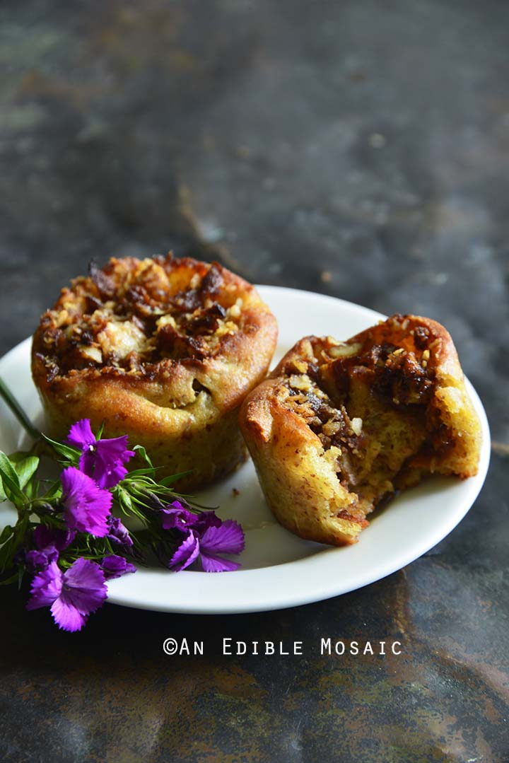 Front View of Low-Carb Fathead Carrot Cake Sticky Buns