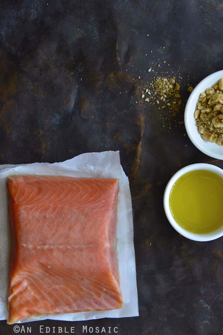 Salmon with Olive Oil and Dukkah