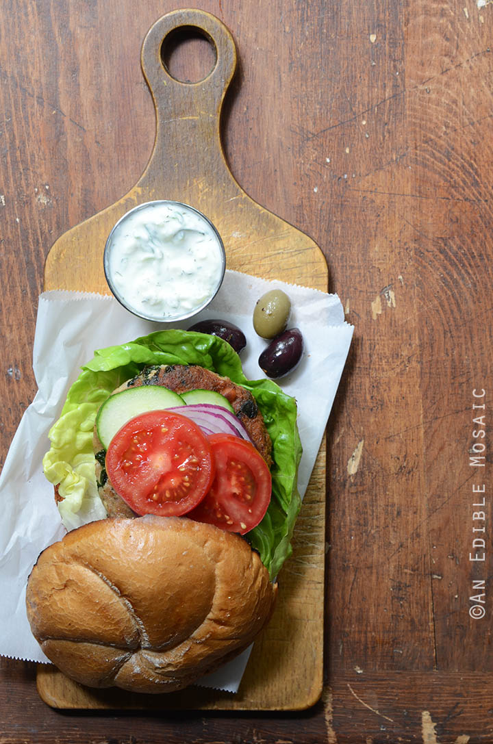 Spanakopita Turkey Burgers