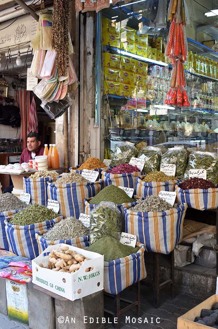 Yarmouk Spice Market in Syria