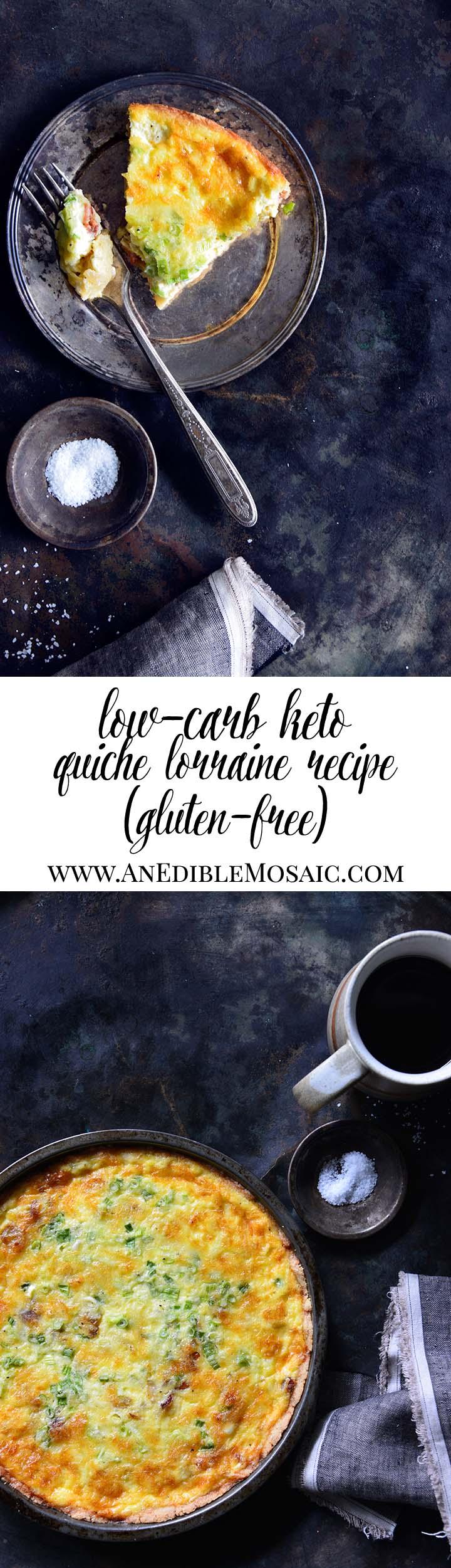 Low-Carb Keto Quiche Lorraine Long Pin