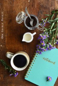 Morning Scene with Coffee and Notebook