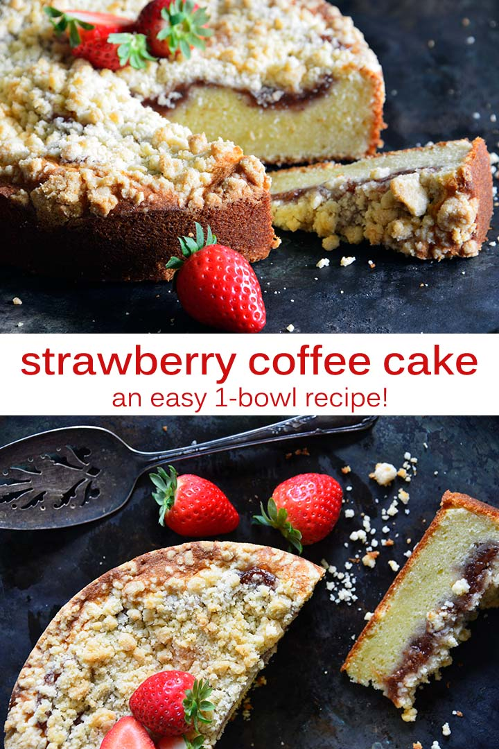 Strawberry Coffee Cake Recipe Pin