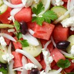 Watermelon Salad with Sweet and Spicy Viniaigrette