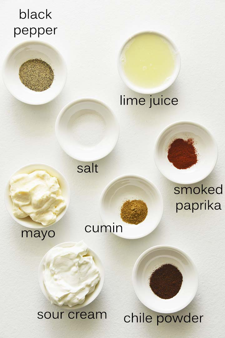 Mexican Corn Salad Dressing Ingredients