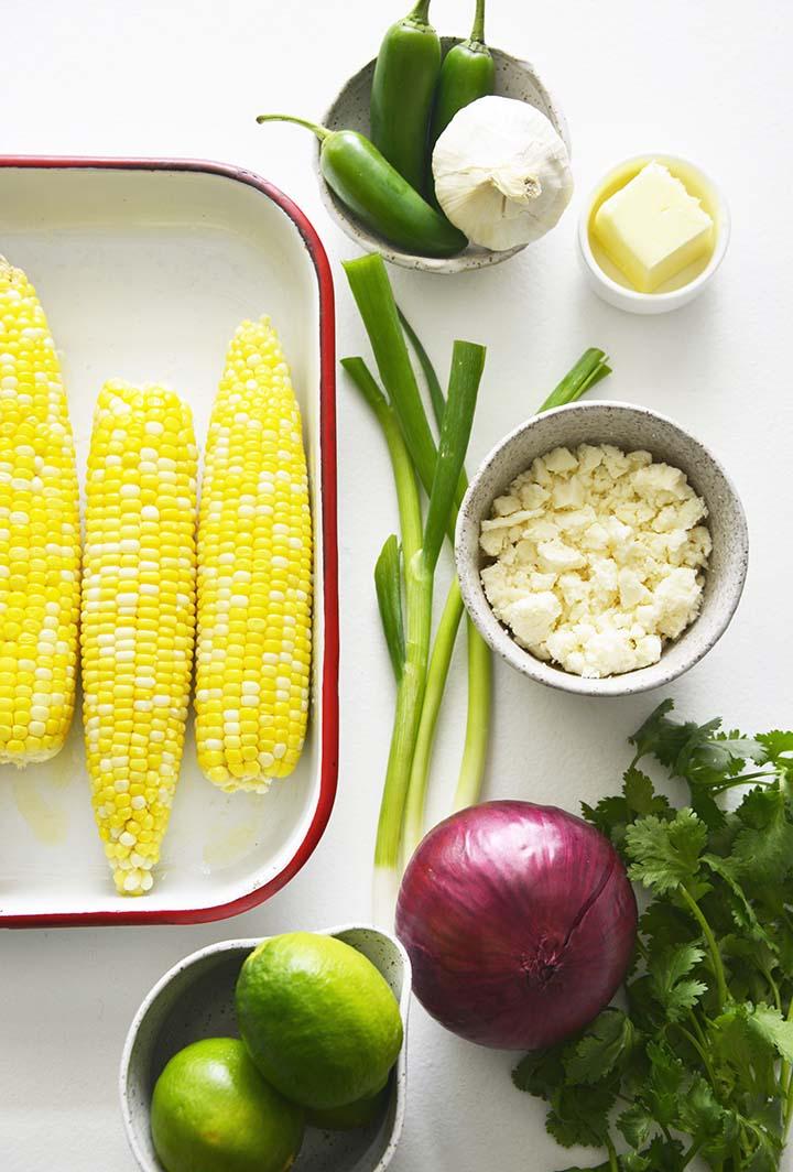 Mexican Corn Salad Ingredients