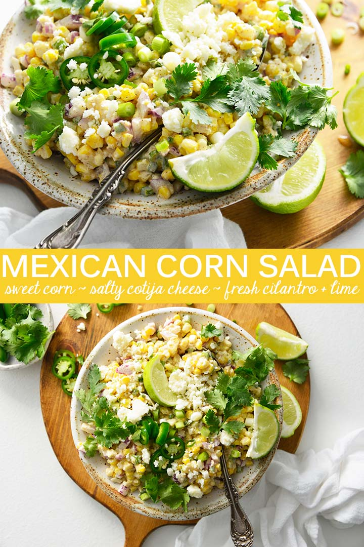 Mexican Street Corn Salad Recipe Pin