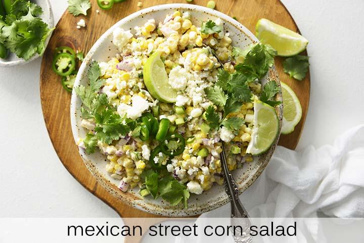 Mexican Street Corn Salad with Description