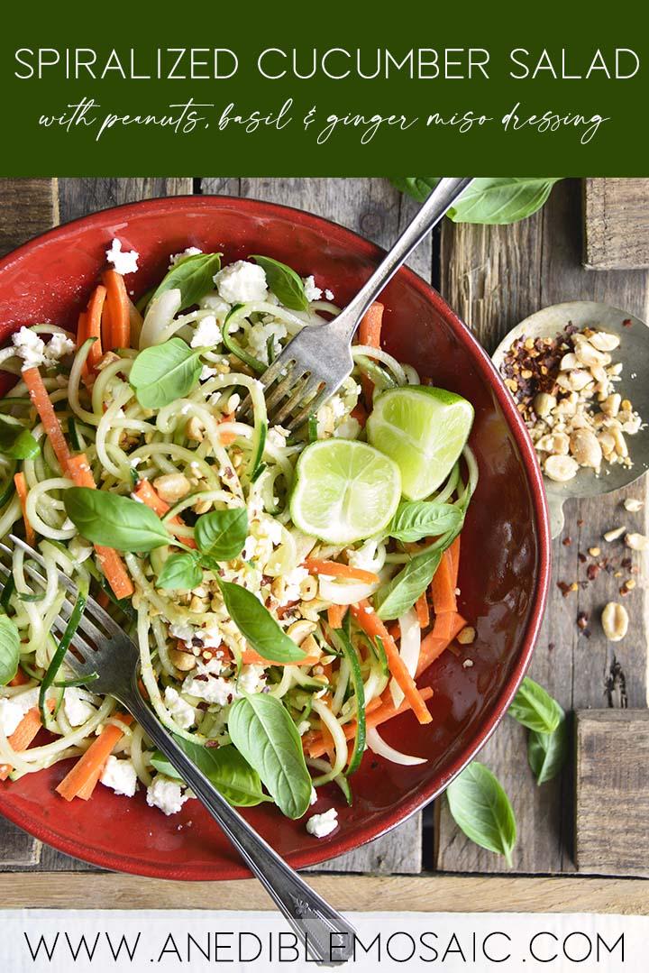 Spiralized Cucumber Salad Graphic