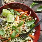 spiralized cucumber salad featured image