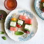 watermelon appetizer skewers featured image