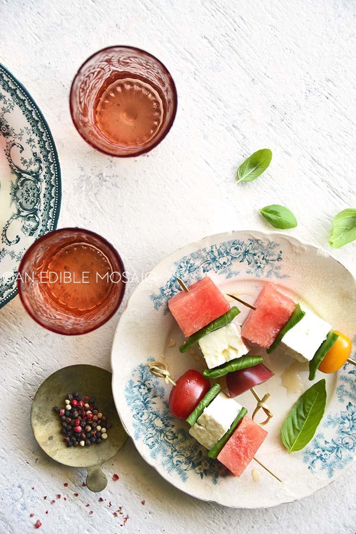 watermelon appetizer skewers