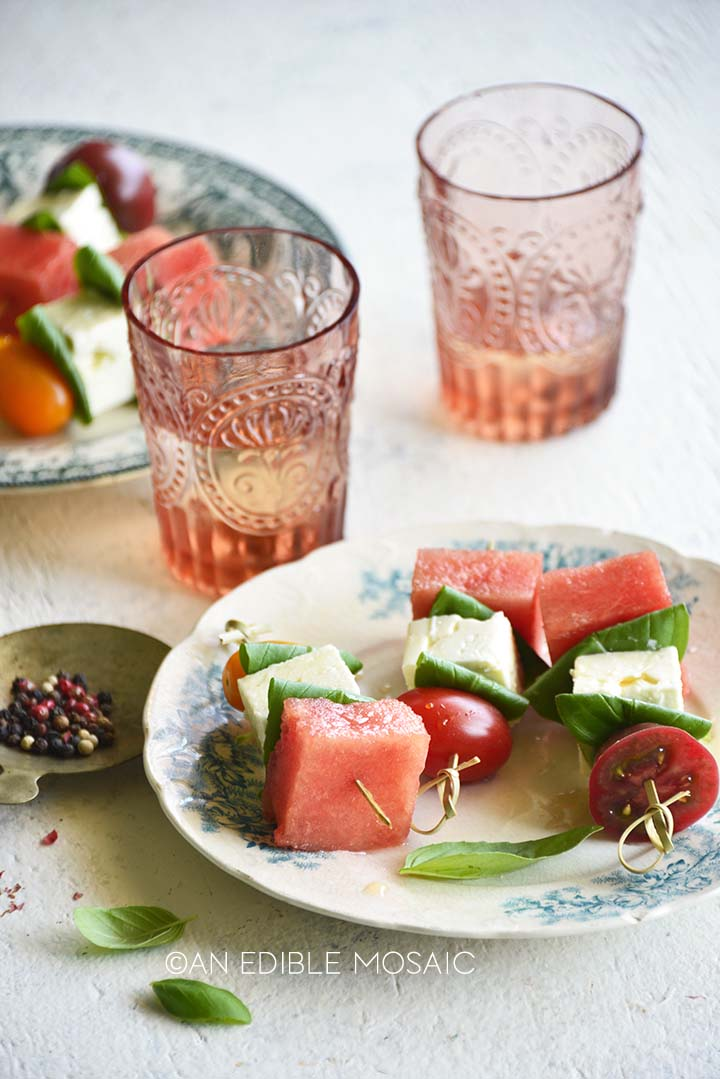 watermelon salad skewers