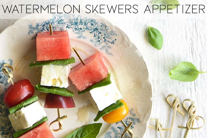 watermelon skewers appetizer with description