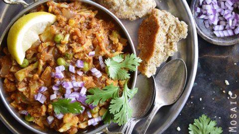 Instant Pot Cauliflower Pav Bhaji Low Carb Indian Food