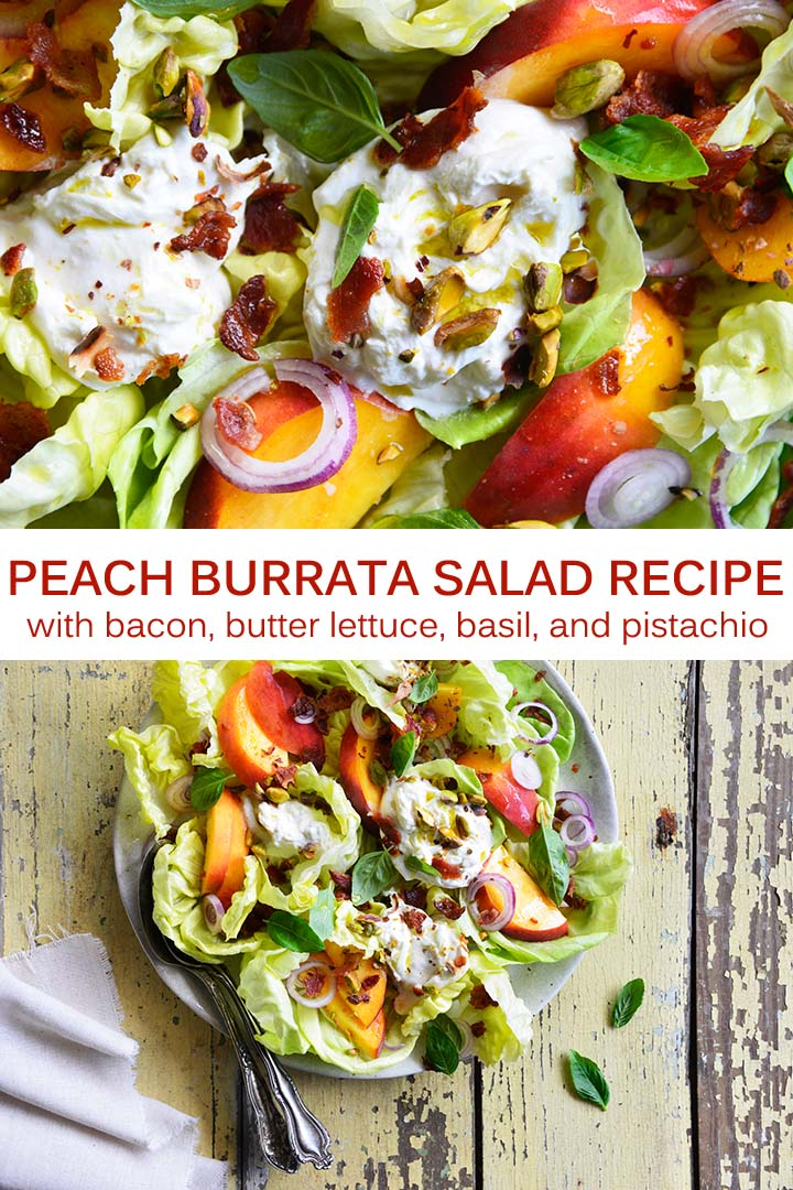 Peach Burrata Salad Recipe Pin