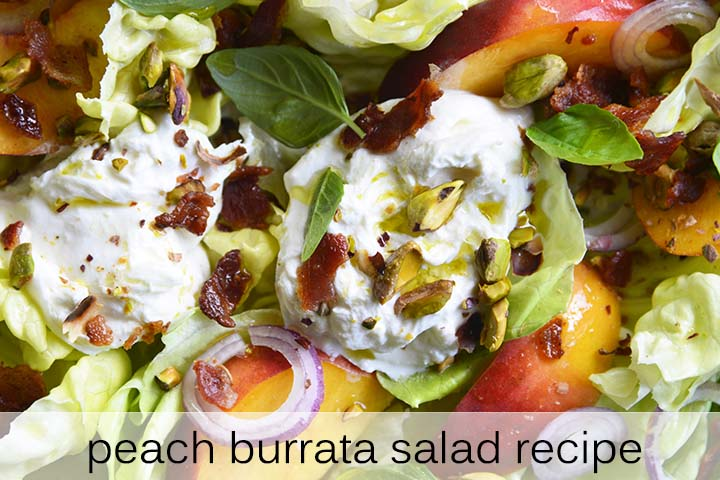 Peach Burrata Salad Recipe with Description