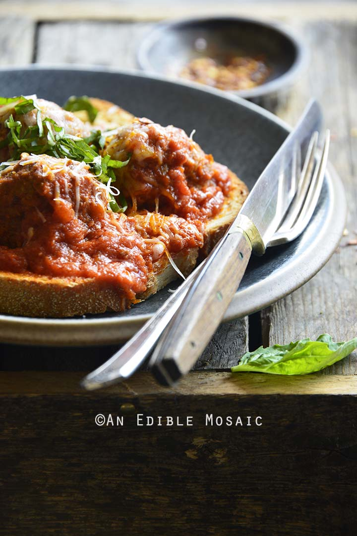 Close Up of Easy Meatball Bomber Recipe